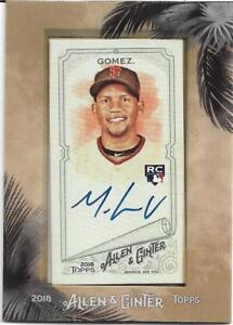 2018 Topps Allen and Ginter Framed Mini Autograph #MA-MG Miguel Gomez RC AUTO