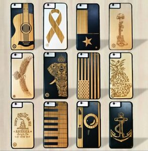 timeless design d95ad 82d4f Details about Luxury Wood Smartphone Cases Cover Wood/Bamboo 32 Designs  Apple iPhone & Samsung