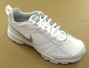 Nike T-Lite XI White Leather Womens Athletic  616696-101 - Size 6.5 White