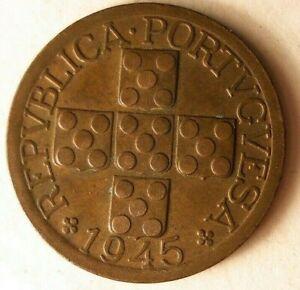 1945-Portugal-20-Moneda-Fuerte-Valor-Superior-Vintage-Bin-24