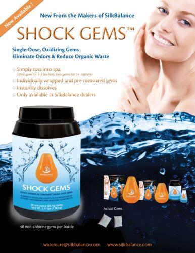 SilkBalance Shock Gems 1.26kg 40 x Dissolving Non Chlorine Shock Pods Oxidiser