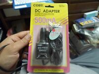 Coby Ca-707 Dc Adapter 500 Ma Output Power