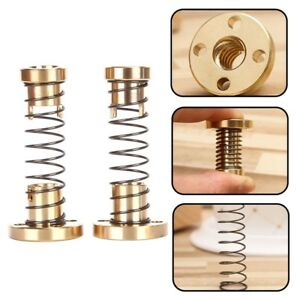 NEW-T8-Anti-backlash-Spring-Loaded-Nut-For-CNC-2mm-8mm-Threaded-Rod-Screw-yRBKz