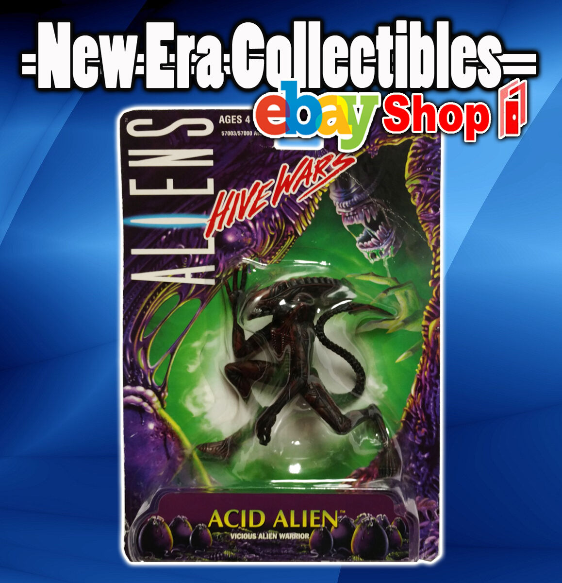 Aliens - Hive Wars - Acid Alien - Vicious Alien Warrior - Kenner - Hasbro - 1998