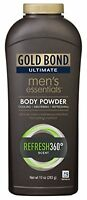 5 Pack Gold Bond Ultimate Men's Essentials Body Powder Refresh 360 Scent 10oz Ea on sale