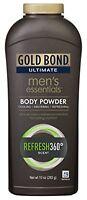5 Pack Gold Bond Ultimate Men's Essentials Body Powder Refresh 360 Scent 10oz Ea on sale