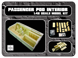 Space1999 eagle transporter passenger pod interior for the 22  round 2 model kit