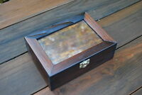 Wooden Box with frame 4''X6'' for photo at the top in brown colour