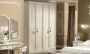 Détails sur Chambre à Coucher Armoire GAS Beige Bois Massif classique  italienne meubles- afficher le titre d\'origine