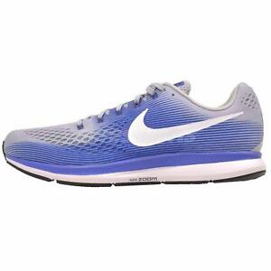 e7aaf2a205e Nike Air Zoom Pegasus 34 (4E) Running Shoes Mens Wide Grey Blue ...