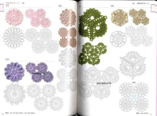CROCHET PATTERNS BOOK Motifs and Edging 300 Japanese