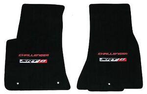 LLOYD Velourtex FRONT FLOOR MATS w/ logos 2011 to 2014 Dodge CHALLENGER SRT 8