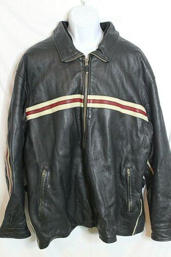 Vintage Tommy Hilfiger Black Leather Jacket Lethal