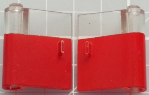 LEGO 801 802 Door 1x3x3 Left /& Right with Window and Vertical Handle x1 Pair
