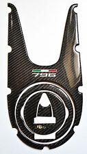 Ducati Monster 796 real carbon fiber tank dash trim panel cover pad protector