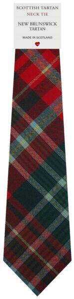 100% Vero Da Uomo Cravatta Clan Made In Scotland New Brunswick Canadese Tartan
