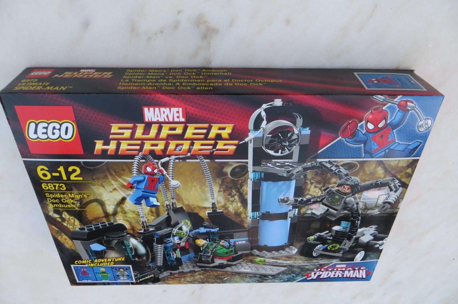 New  Sealed Super Heroes Lego 6873 Spider-Man's Doc Ock Ambush