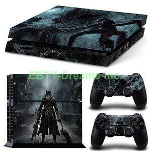 Faceplates, Decals & Stickers Bloodborne Hunters Video Game Skin Sticker Decal Protector For Playstation Ps4