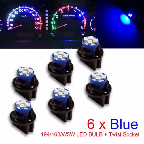 6x AMC 194 Instrument Panel Cluster Light Bulb Lamp Dashboard Socket Plug NOS