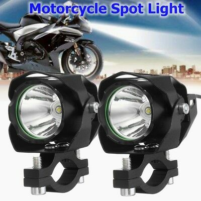 2x 1200lm Motorcycle Bike Car 30w T6 Led Driving Headlight Fog Lamp Spot Light