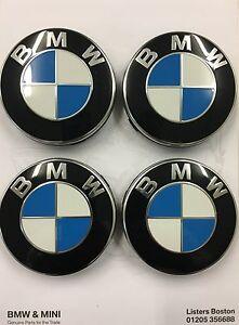 Genuine-BMW-Set-of-4-Alloy-Wheel-Centre-Caps-36136783536-E46-E90-F10-F20-F30-F32