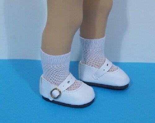 """Debs WHITE Splendid Doll Shoes For 13/"""" Sylvia Natterer Minouche Petitcollin"""