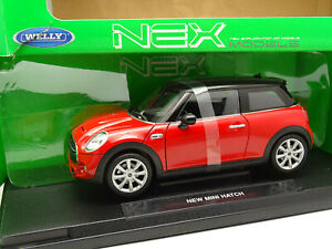 Welly-1-18-New-Mini-Hatch-Rouge