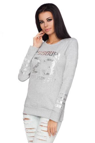 Womens cinereo nero Taglia 1978 Print Sweater Active Pullover blu 12 8 corallo Camicetta Missouri Top Ecru Jumper rqnr6TwxZ4