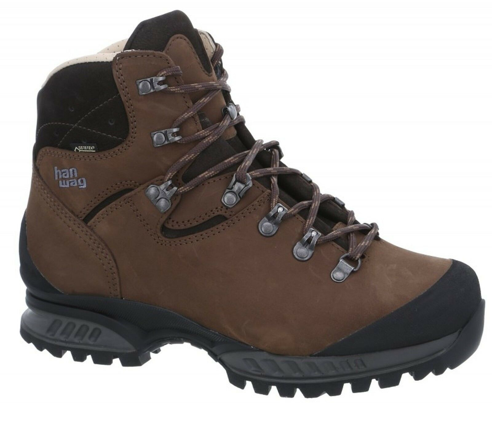 Hanwag Trekking schuhe Tatra II Wide Leather Größe 9 - 43 Earth