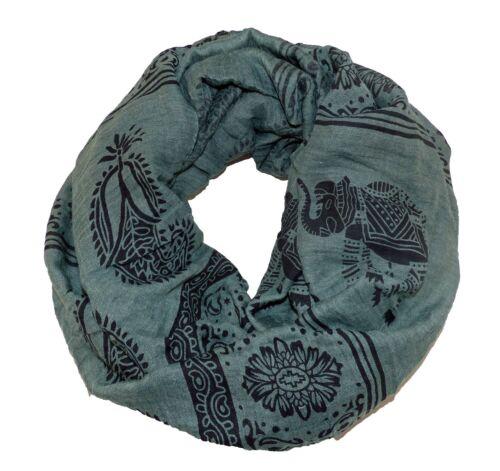 Muster Loop Schlauchschal Tube Schal Elefant Pferd Stern Winterliche Farben div