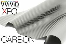 VVIViD Dry Silver Carbon Fiber car wrap Vinyl 1ft x5ft sticker 3mil XPO series