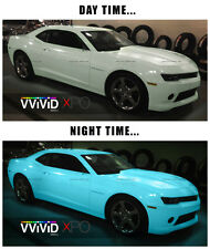 Vvivid 3Mil 2ft x 5ft Glow in the dark blue green car wrap vinyl