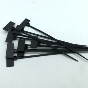 7f0e767552e2 Black Marker Cable Ties Write On Labels Flags - Wire Power Tags ...