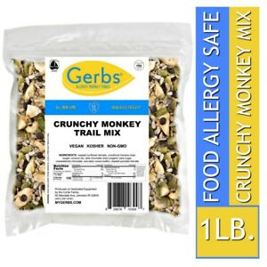Crunchy-Monkey-Chocolate-Mix-1-LB-Food-Allergy-Safe-amp-Non-GMO-by-Gerbs