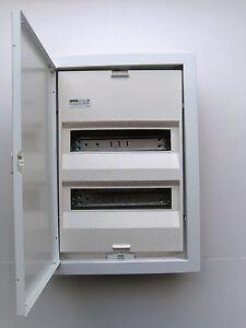 Aufputz Kleinverteiler Sicherungskasten 2-reihig 24+4TE