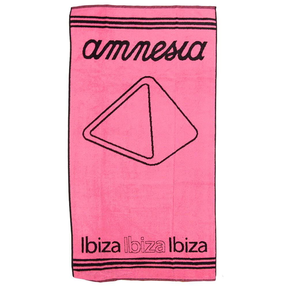 UFFICIALE AMNESIA IBIZA IBIZA IBIZA BEACH ASCIUGAMANO PIRAMIDE Logo Cotone Nero rosa RRP .00 8eca26