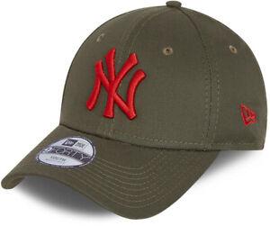 NY-Yankees-Kids-New-Era-940-League-Essential-Olive-Baseball-Cap-Ages-6-12