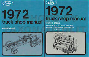 1972    Ford    Truck Shop Manual Set Pickup Bronco F100 F250