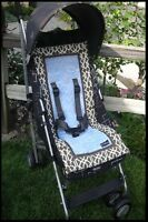 Booyah Baby Girl Boy Stroller Liner Pad Cocoa Trellis Fits All Bugaboo