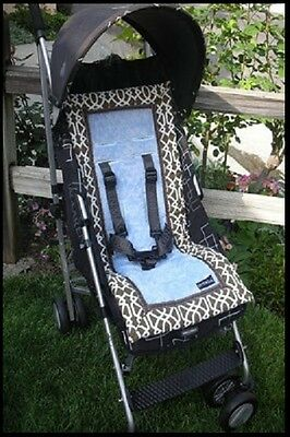 New Booyah Baby Girl Boy Stroller Liner Pad Cocoa Trellis Fits all Bugaboo $69