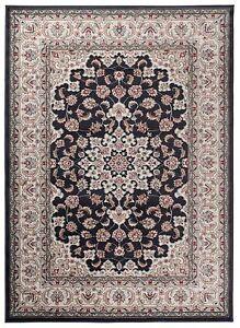 Traditional Klassischer Orientteppich Perser Vintage Teppiche Anthrazit Schwarz