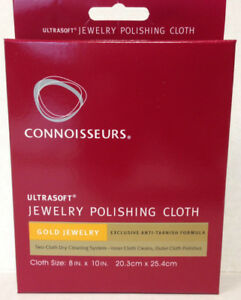 Sterling Silver Jewelry Polishing Cloth Cleaner 8x10