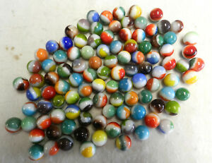 #13127m Vintage Bulk Group or Lot of 100 Mostly Vitro Agate Marbles