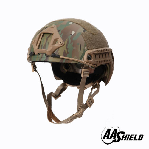 AA Shield Tactical Ballistic Helmet High Cut Bullet Proof Lvl IIIA 3A MC  L/XL