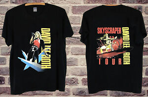 54691ced8da David Lee Roth - Skyscraper Tour 1988 black T SHIRT gildan usa size ...