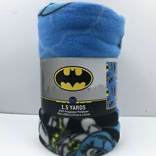 Fleece Polar By The Yard 60  Blanket jackets clothes quilts Licenced Product Batman on blue