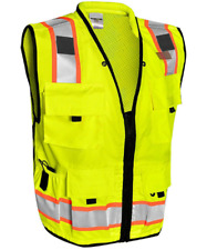 Vero1992 F Safety Vest For Mens Engineer High Visibility Vest With Pockets