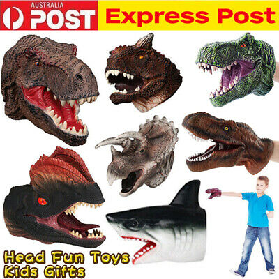 Vinyl Hand Puppet Glove Dinosaur Story Telling Toy Children Cosplay Costume