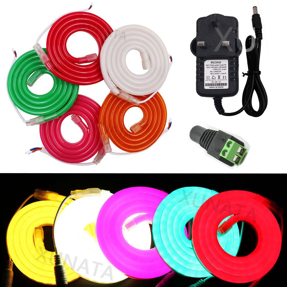 DC12V SMD 2835 120leds m Strip rope Lighting Flex Neon Light Waterproof 1-10M
