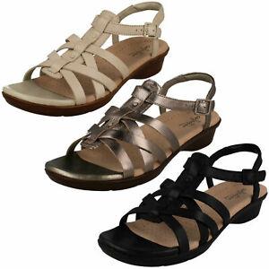 Clarks Ladies Leather Sandals 'Loomis